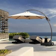 Aluminum Patio Cantilever Umbrella only champagne