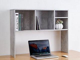 The Cube   Desk Bookshelf   Marble Gray