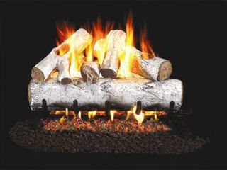 Real Fyre Designer Series White Birch 30 inch Vented Gas Logs Logs Only- Retail:$317.89