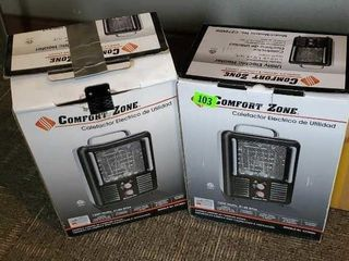 Comfort zone electric space heaters (2)