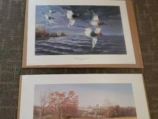 Duck artwork prints, set of 3