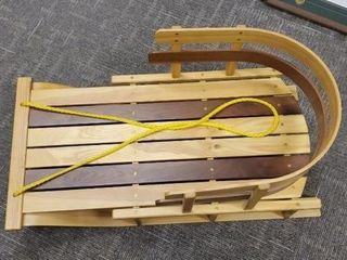 Handcrafted wooden sled