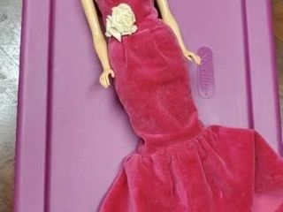 Vintage Barbie doll with velvet gown