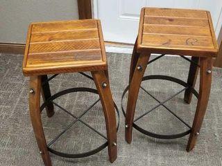 Pair of Ducks Unlimited bar stools