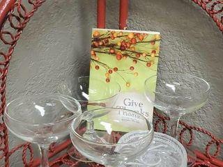 Give Thanks stemware, wine glasses, coasters