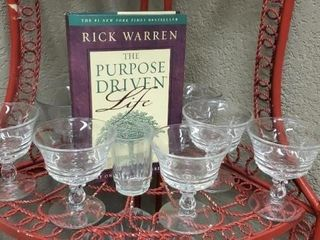 The Purpose Driven Life stemware, goblets, juice