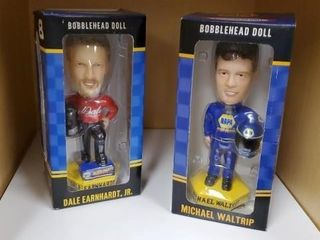Dale Earnhardt Jr., Michael Waltrip bobbleheads