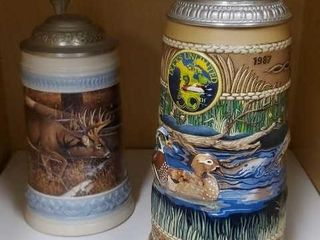 Ducks Unlimited, Whitetails Unlimited beer steins