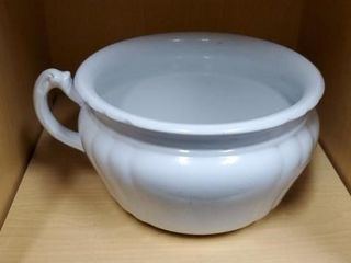Royal iron stone chamber pot