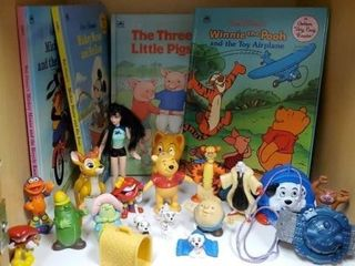 Children's toys, Winnie the Pooh, Mickey Mouse,