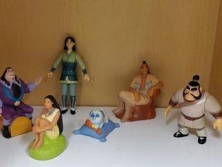Pocahontas & Mulan toys, set of 6