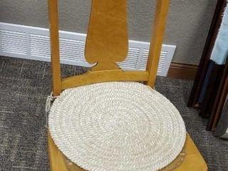 Antique bird's eye maple rocking chair