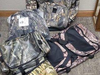 Duffel bags, cooler, fanny packs