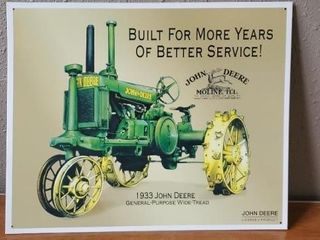 1933 John Deere general purpose tractor sign