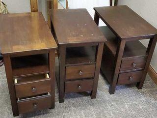 Side tables, set of 3