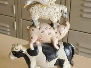 Cast iron farm animal doorstop