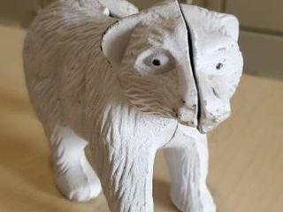 Cast iron polar bear bank