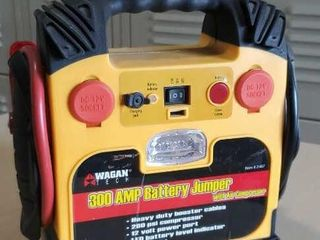 Battery charger 300 amp with 260 PSI compressor