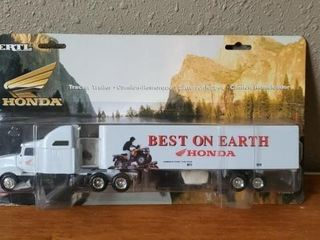 Honda tractor trailer toy collectible