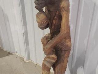 Primitive wooden carved sculpture