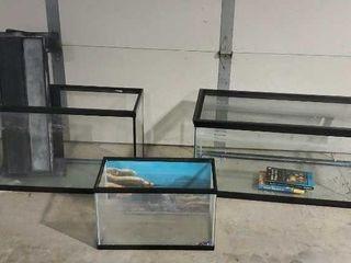Aquariums, set of 3