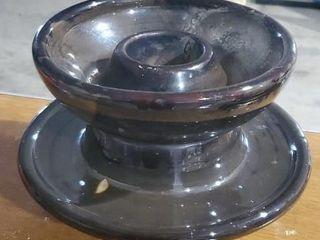 Brown glazed insulator