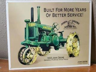 1933 John Deere general purpose tractor sign