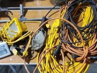 Extension cords, trouble lights, squeegee