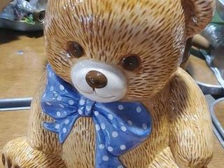 Ceramic teddy bear cookie jar