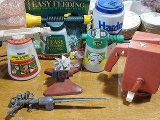 Hand seeders, sprayers, sprinklers, travel mug