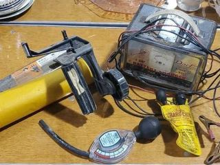 Dart 6 and 12 V battery charger, testers, masker