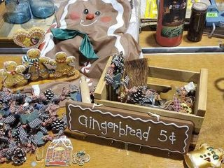 Gingerbread collection, garland, ornaments, decor