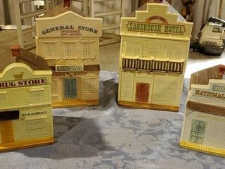 Ceramic Main Street canister set, 4 piece