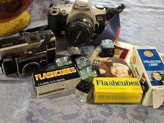 Canon Rebel EOS Kodak Instamatic cameras, flash