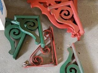 Painted brackets, 4 pairs