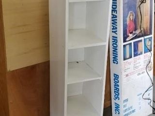 White storage shelf