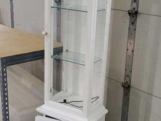White lighted curio cabinet