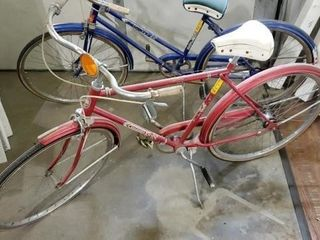 Red Columbia vintage bicycle