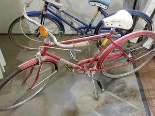 Red Columbia vintage bicycle