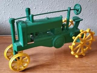 Cast iron tractor collectible