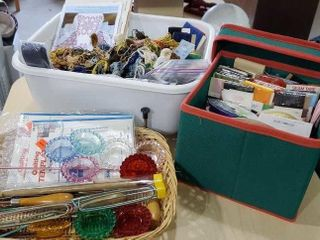 Sewing assortment, seam tape, knitting and crochet