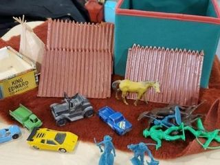 Vintage toys, cowboys and Indians