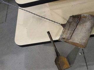 Antique dustpan, coal scoop