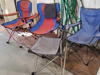 Bag chairs, set of 4