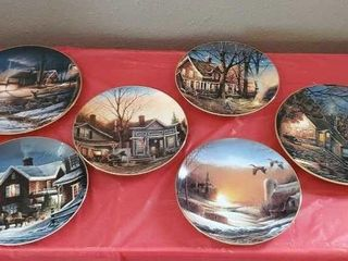 Assorted Terry Redlin collector plates, set of 6