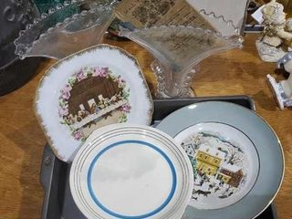 Floral vases, Last Supper, Christmas plate