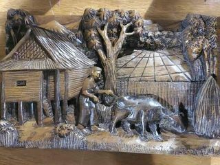 Wooden farm plaque