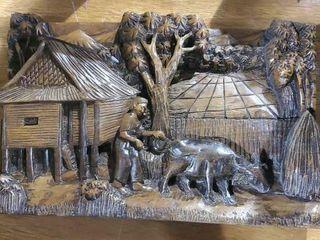 Wooden farm plaque
