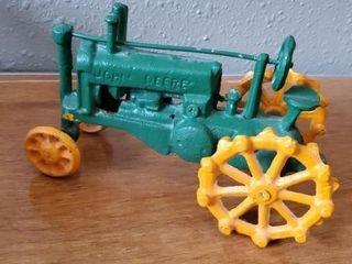 John Deere cast iron tractor