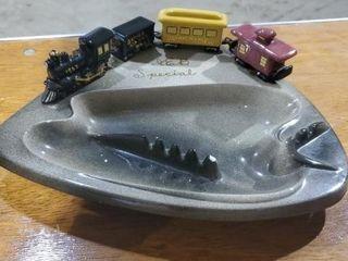 Union Pacific ceramic ashtray
